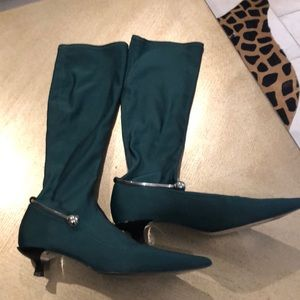 """Zara tall sock boots with silver ankle """"bracelet"""""""